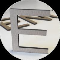 Découpe de lettre carton personnalisable rouen