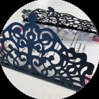 Faire part mariage fabrication originale laser découpe papier rouen