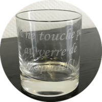 Verre a whisky personnalisé - Graphelio rouen